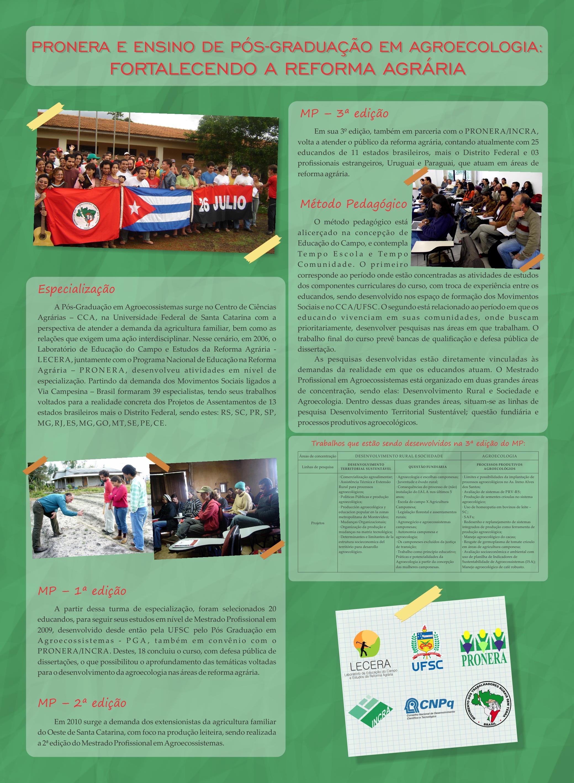 Trajetória dos cursos de Mestrado Profissional em Agroecossistemas
